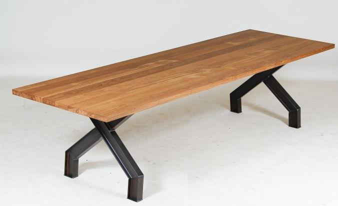 Massief Houten Tafel : Houten vergadertafel duurzaam hout mv kantoor