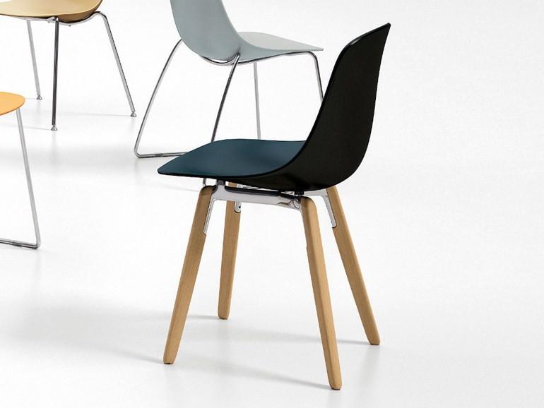 Be Pure Stoel : Stoel pure loop wood kantinestoelen mv kantoor