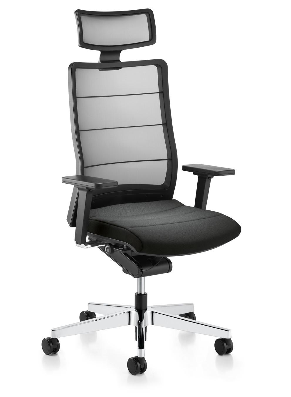 Bureaustoel Met Neksteun.Interstuhl Bureaustoel Airpad 3c72 Leder Mv Kantoor
