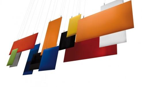 Akoestisch plafondpaneel Baffle - MV Kantoor