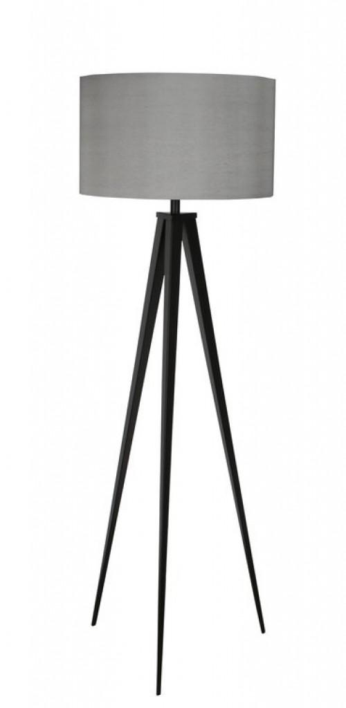 Vloerlamp met grijze kap - grote lamp