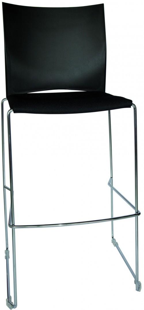 Kruk H450 zwart - hoge barkrukken - mv kantoor