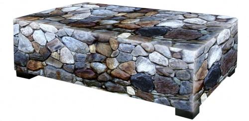 Hocker/zitbank recht steen