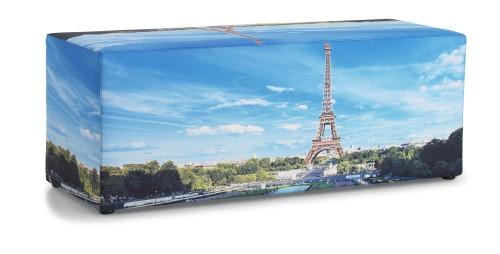 Poef met foto Parijs - mv kantoor