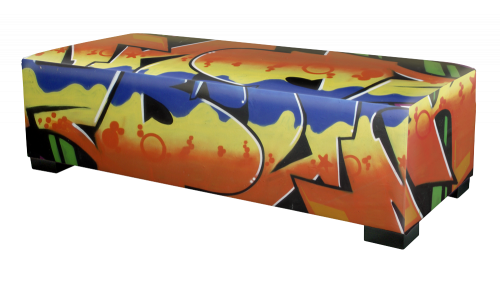 Hocker graffiti print