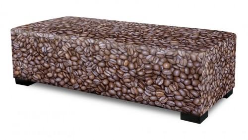Hocker/zitbank recht koffie