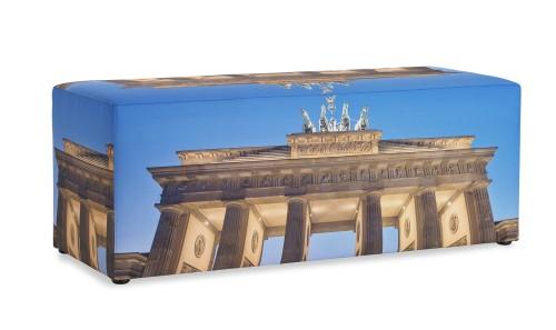 Poef zitbank met foto Berlijn