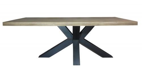 Industriële tafel houten blad - vergadertafel groot - mv kantoor