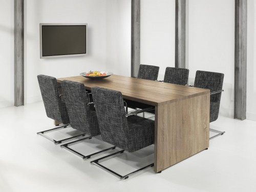 Vergadertafel Manager BE2210E - Robson Eiken - rechthoekige vergadertafel - mv kantoor