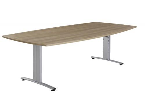 Vergadertafel tonvorm - houten vergadertafel groot - mv kantoor