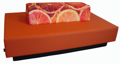 Zitbank Sinaasappels - MV Kantoor