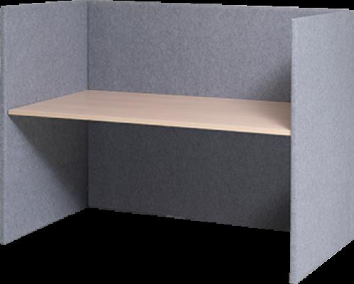 Complete werkplek met akoestische panelen
