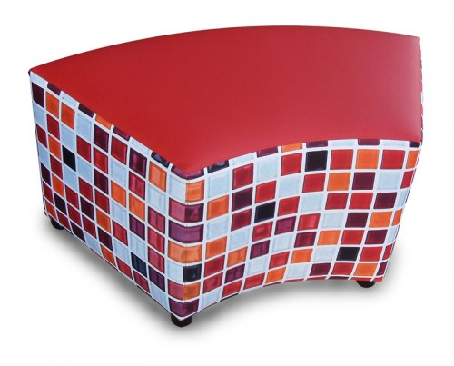 Hocker curved Mozaik - mv kantoor