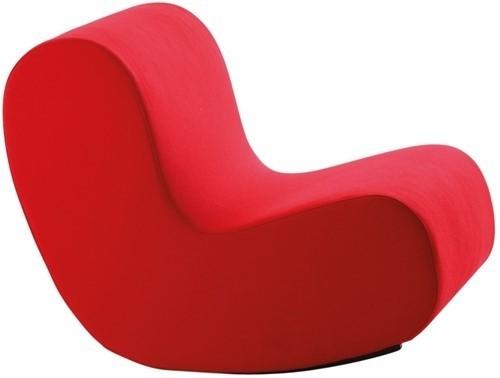 Loungestoel Simple rood