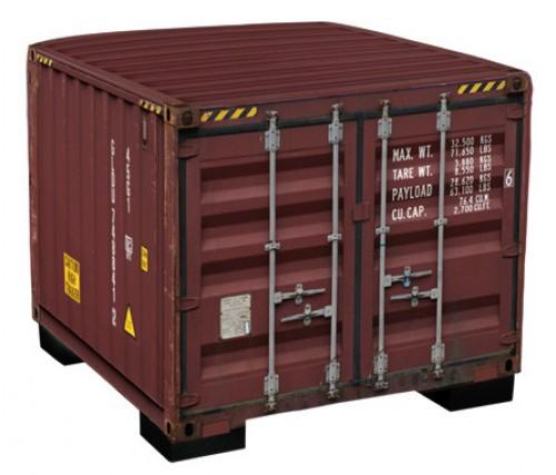 Vierkante hocker container