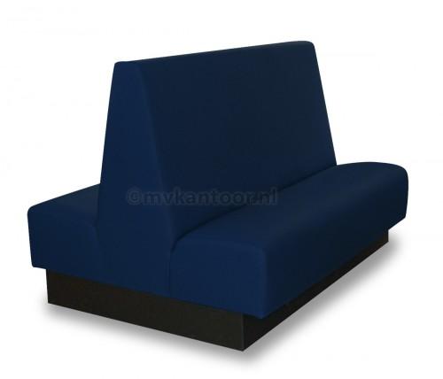 Treinbank dubbel d.blauw Cav4- eetbanken - wachtkamer banken - wandbank blauw