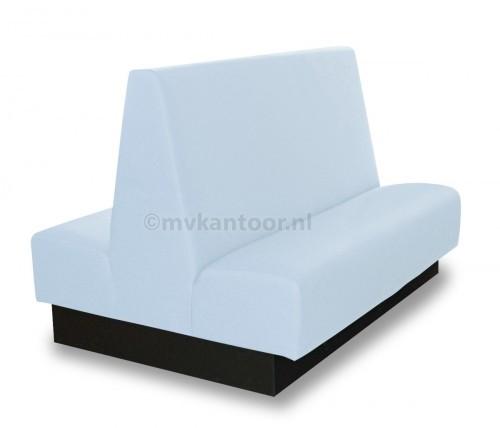 Treinbank dubbel lichtblauw Cav11 - Coupe bank - schoolkantine meubilair - bank op maat - bank kantine