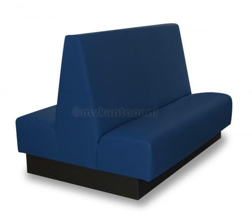 Treinbank dubbel blauw Cav3  - wachtruimte bank - dubbele zitbank - bank op maat - blauw