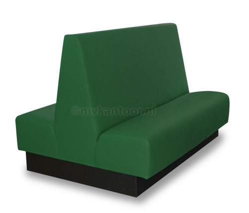 Treinbank dubbel groen Cav35 - kantinebank - treinbank - schoolkantine meubilair - sportkantine inrichting