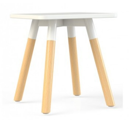 Corner bijzettafel vierkant hout
