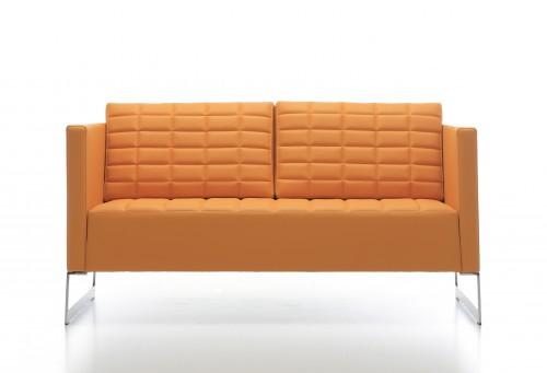 Oranje 2-zits bank