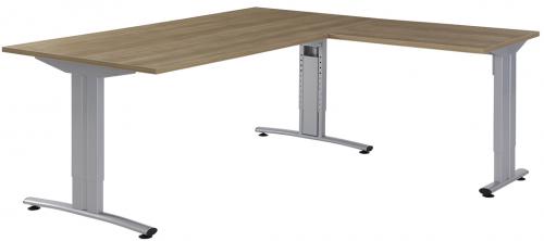 Bureau met aanbouw B1040 - hoogte verstelbaar bureau kantoor