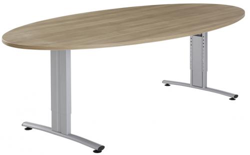 Ellipsvormige Vergadertafel - houten vergadertafel ovaal - mv kantoor