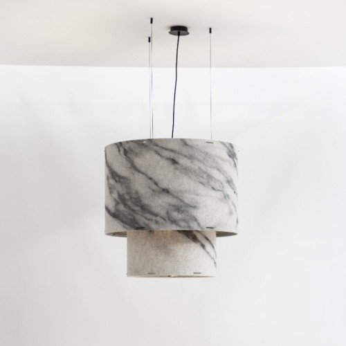 BuzziChandelier - Plain Carrara
