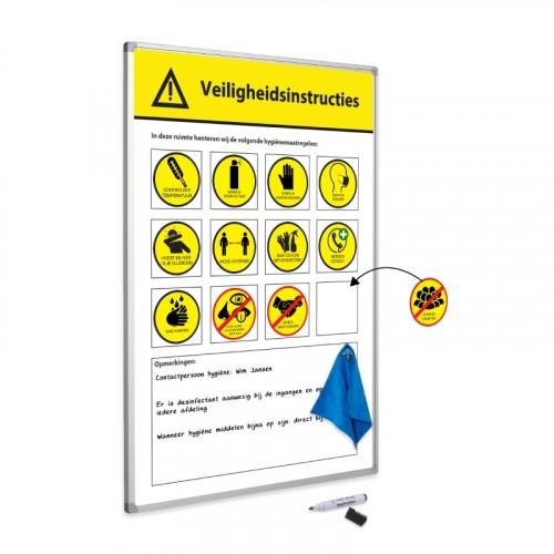 Attentiebord met magneten
