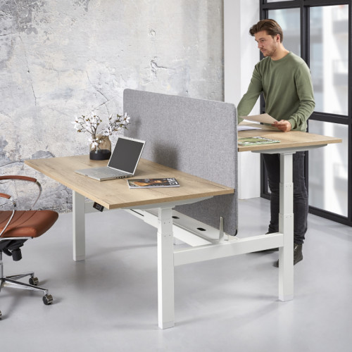 Duo zit-sta bureau elektrisch verstelbaar 65-130cm