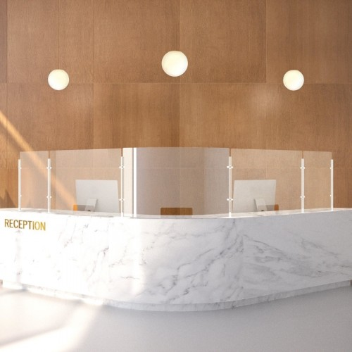 Flexibel corona scherm voor balie, bureau of tafel
