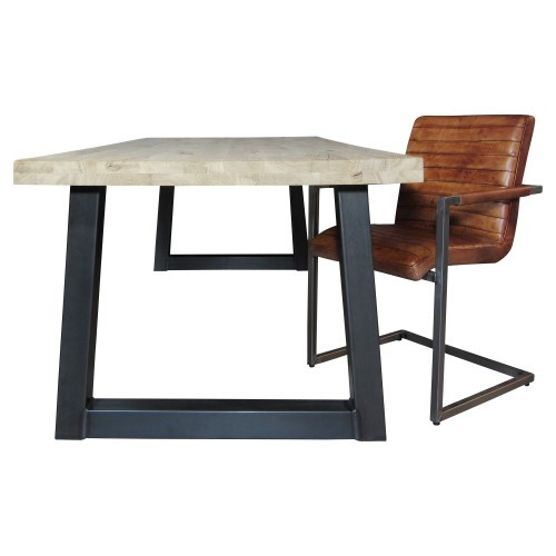 Industriële houten tafel Trapeze - grote vergadertafel - mv kantoor