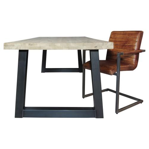 Industriële houten tafel Trapeze - mv kantoor