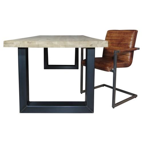 Industriële houten tafel U-model - mv kantoor