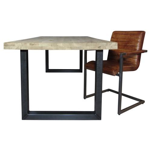 Industriële houten tafel U-poot - MV Kantoor