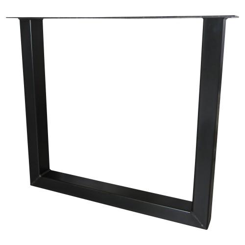 Industriële tafelonderstel U standaard - zwart - mv kantoor