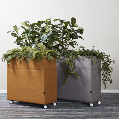 Akoestische plantenbak op wielen