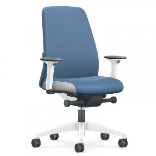 Blauwe bureaustoel arbo