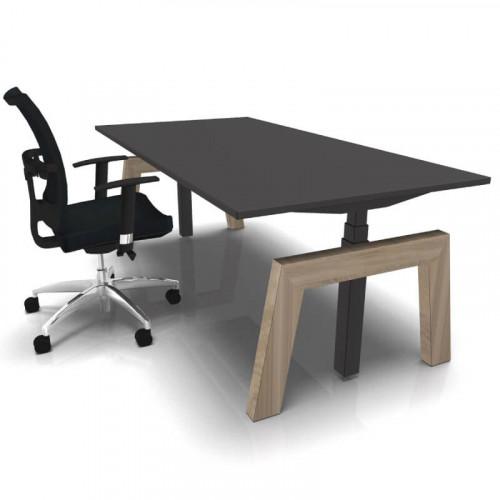 Design zit sta bureau houten poot