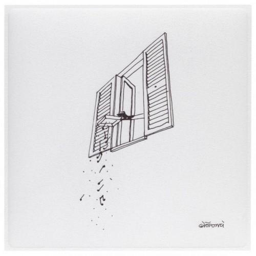 Akoestisch schilderij - Snowsound Art Ponti