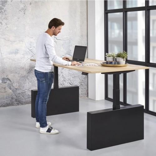 Elektrisch verstelbaar bureau met wangen 65-130cm
