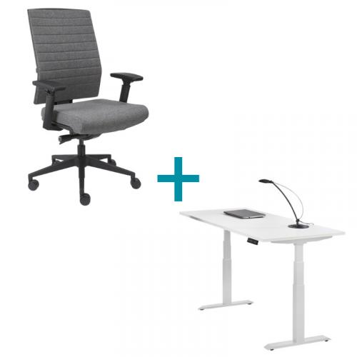 Elektrisch zit sta bureau met bureaustoel
