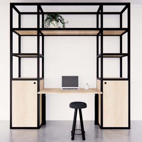 Elektrische thuiswerkplek Cozy met 2x aanbouw