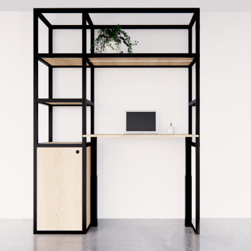 Elektrische thuiswerkplek Cozy met aanbouw