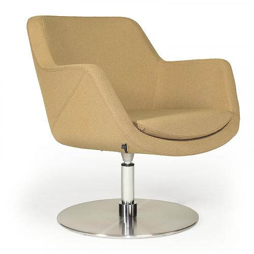 Fauteuil Loïs S - design loungestoel schotelvoet - MV Kantoor