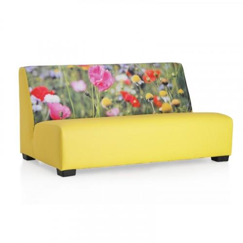 Bank lounge print veldbloemen geel
