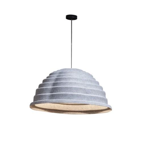Akoestisch hanglamp Topolight grijs