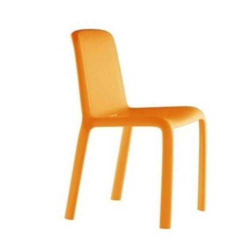Kunststof stoel Snow oranje