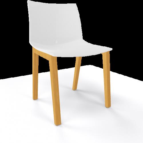 Stoel Point Wood - stoelen met brede zitting - MV Kantoor