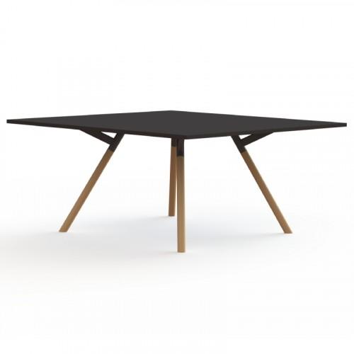 bridge vierkante tafel met houten poten